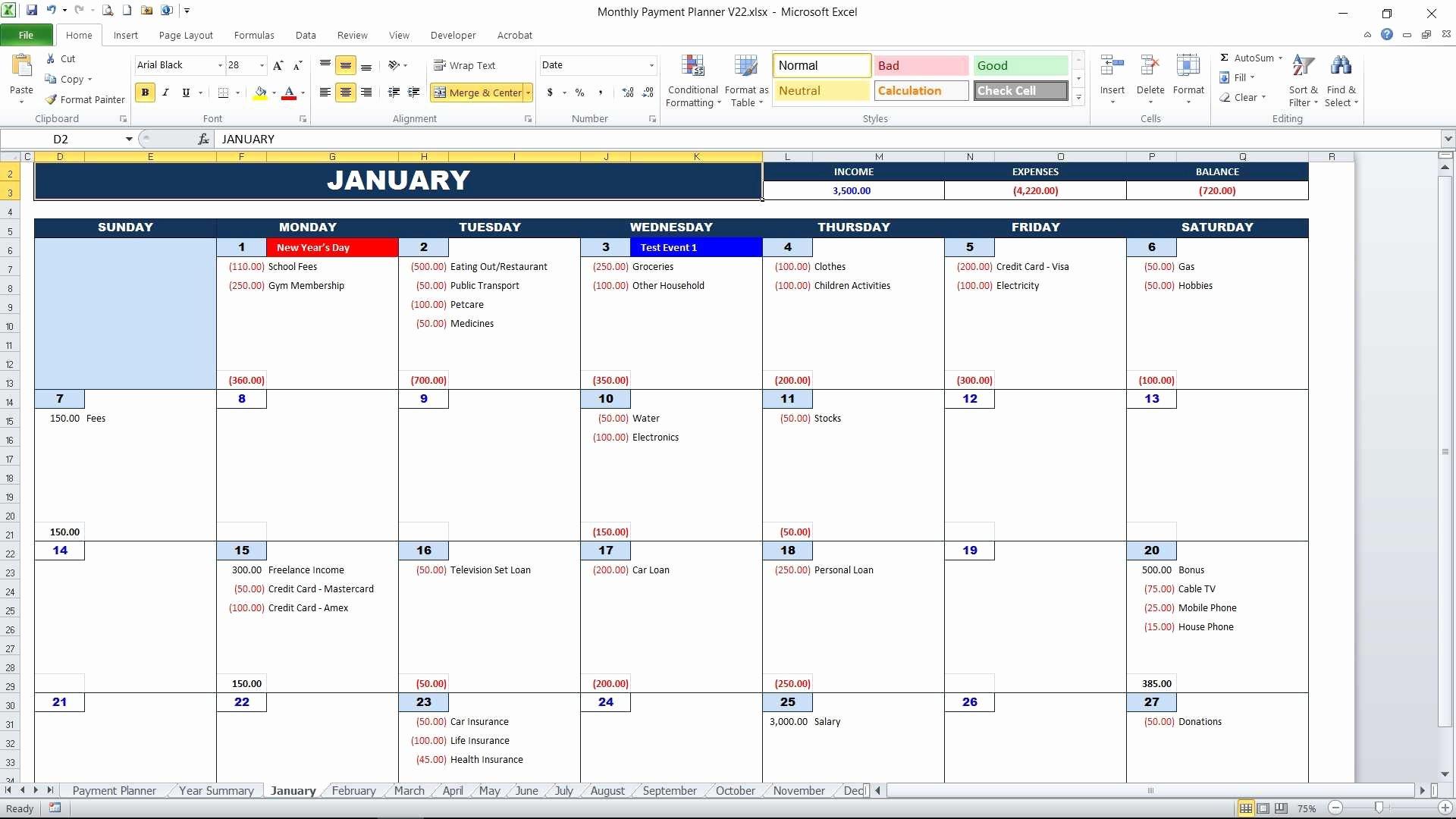 Bill Payment Calendar Template Lovely Bill Payment Calendar
