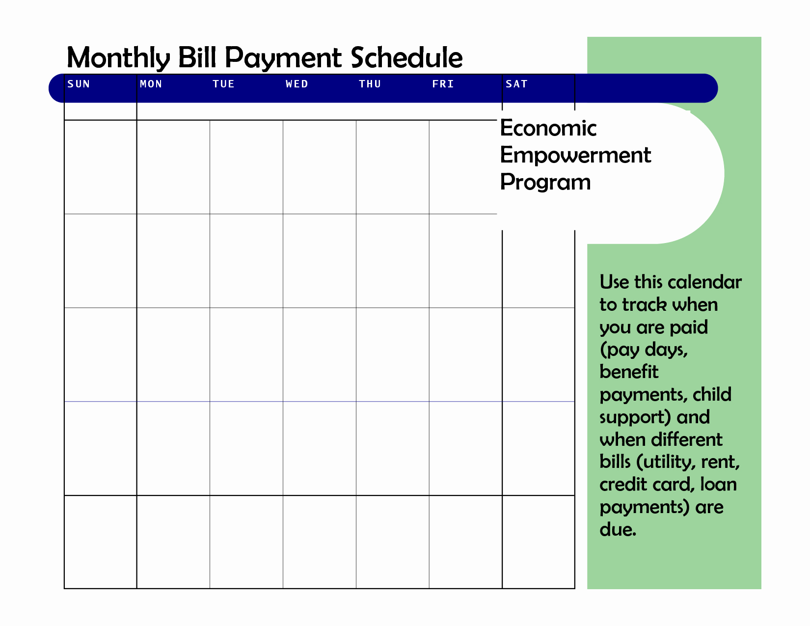 Bill Payment Schedule Template New Monthly Based Bill Payment Schedule Template Vatansun