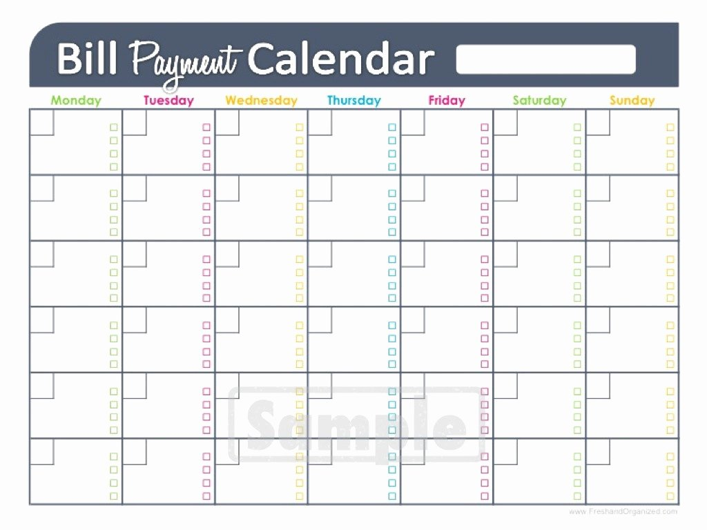 Bill Payment Schedule Template Unique Bill Paying Calendar Template