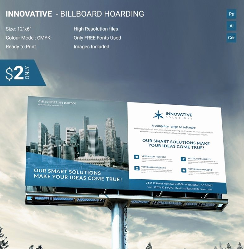 Billboard Design Template Free Best Of Brilliant Innovative Billboard Mockup