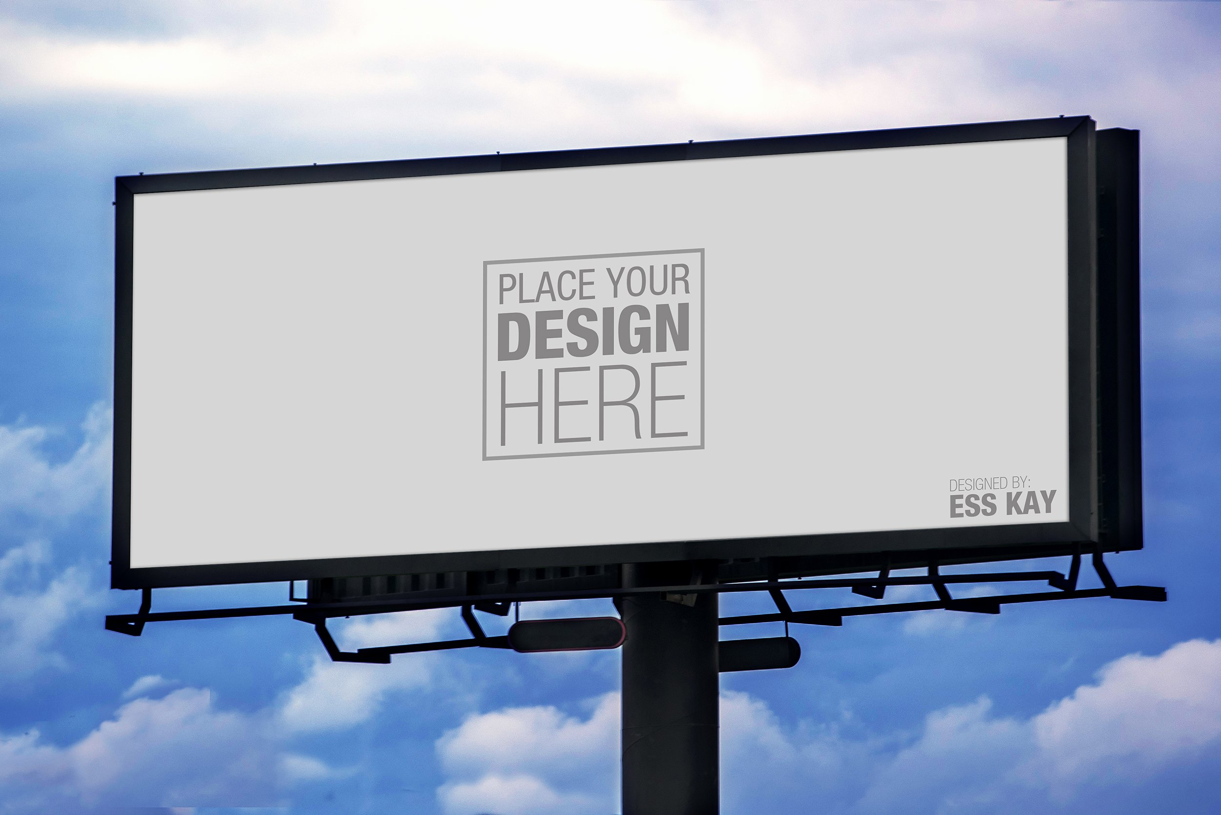 post outdoor billboard mockup psd free