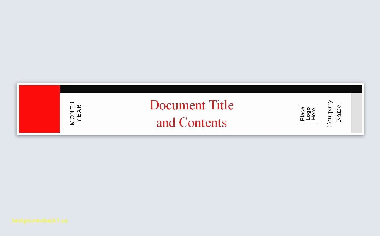 Binder Spine Label Template Lovely Unique Avery Templates Binder Spine Inserts
