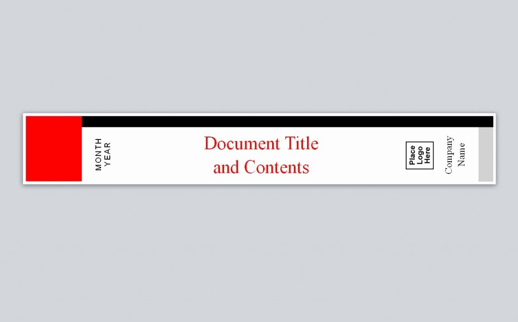 Binder Spine Label Template New Avery Binder Spine Template
