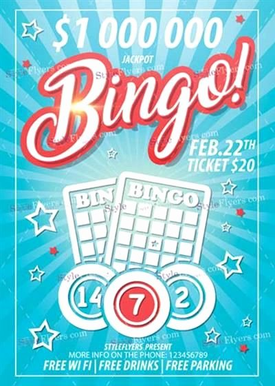 Bingo Flyer Template Free Beautiful Bingo Flyer Template Free 12 Best Bingo Card Template Free