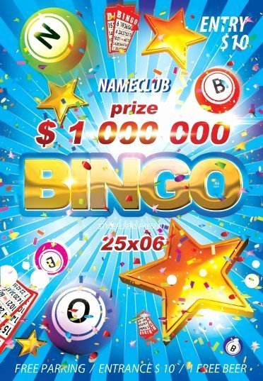 Bingo Flyer Template Free Beautiful Bingo Psd Flyer Template 8774 Styleflyers