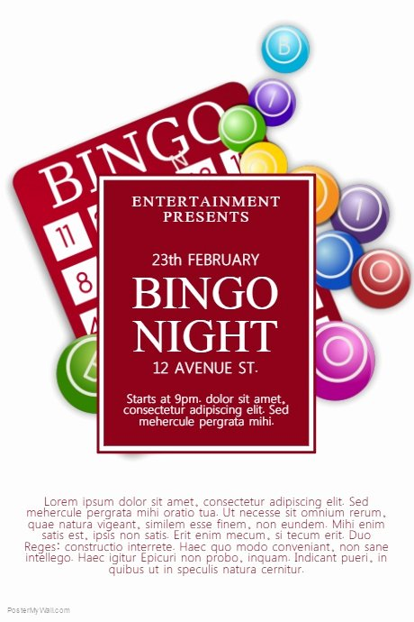 Bingo Flyer Template Free Best Of Bingo Night Flyer Template