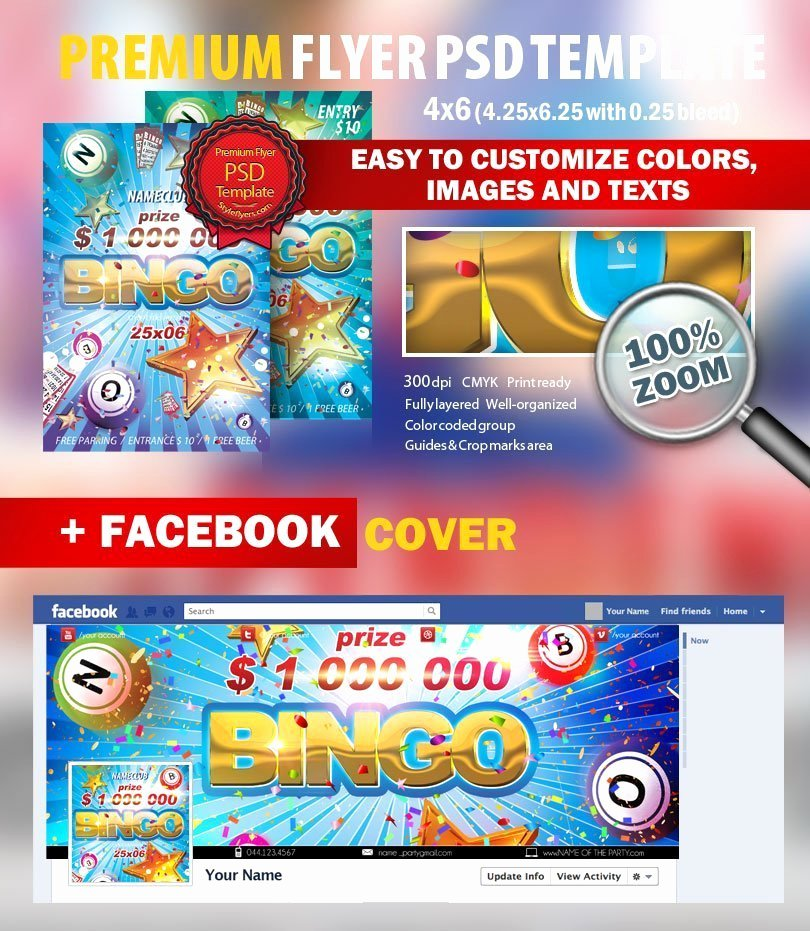 Bingo Flyer Template Free Best Of Bingo Psd Flyer Template 8774 Styleflyers