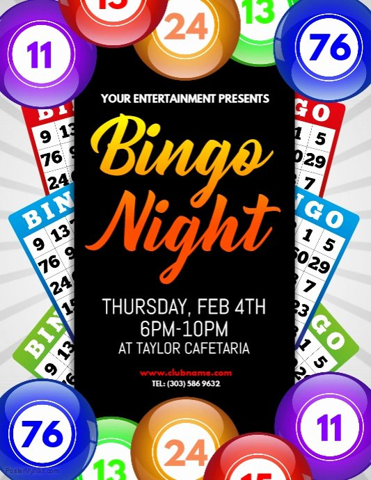 Bingo Flyer Template Free Elegant Bingo Night Flyer Template