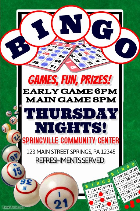 Bingo Flyer Template Free Elegant Bingo Template
