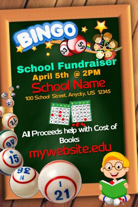 Bingo Flyer Template Free Elegant School Bingo Fundraiser Template