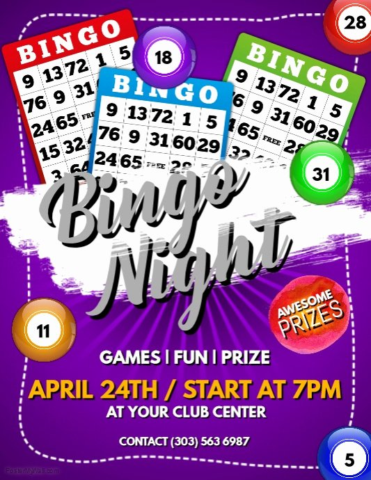 Bingo Flyer Template Free Fresh Bingo Night Flyer Template