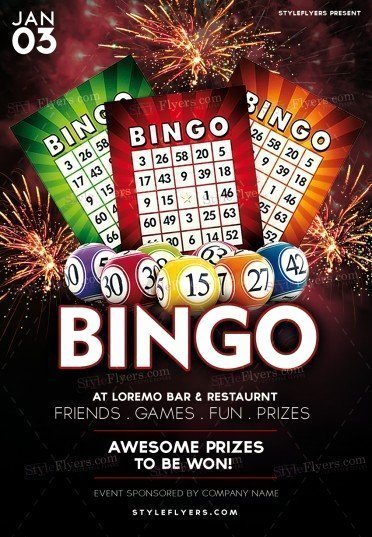 Bingo Flyer Template Free Inspirational Bingo Psd Flyer Template Styleflyers
