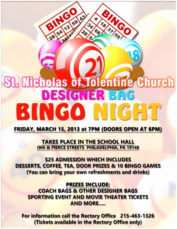 Bingo Flyer Template Free Inspirational Free Bingo Night Flyer Template Smartrenotahoe
