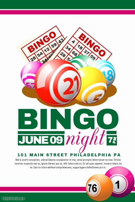 Bingo Flyer Template Free Lovely Bingo Flyer Template