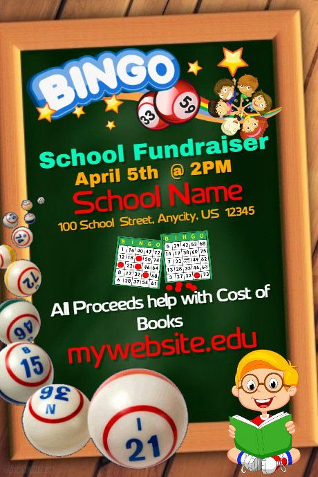 Bingo Flyer Template Free New School Bingo Fundraiser Template