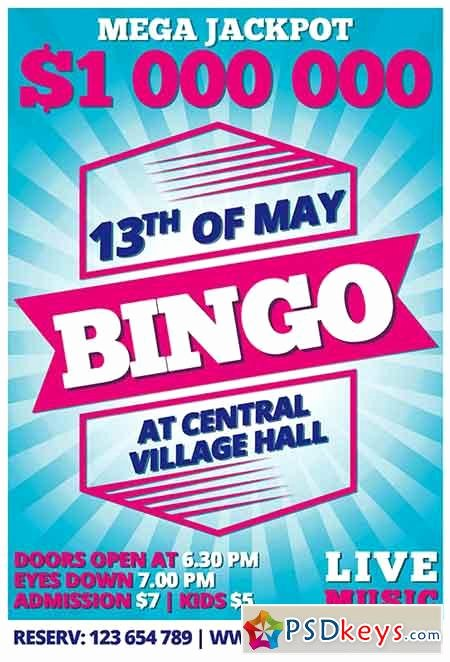 Bingo Flyer Template Free Unique Bingo Psd Flyer Template Cover Free Download
