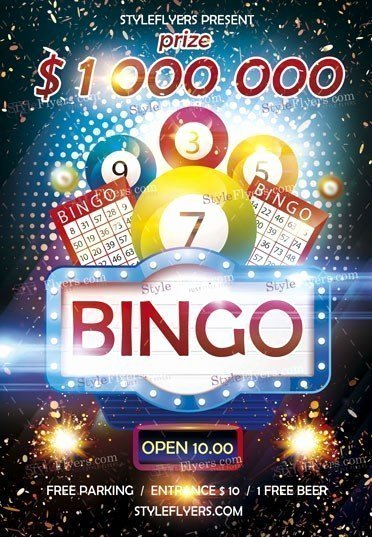 Bingo Flyer Template Free Unique Bingo Psd Flyer Template Styleflyers