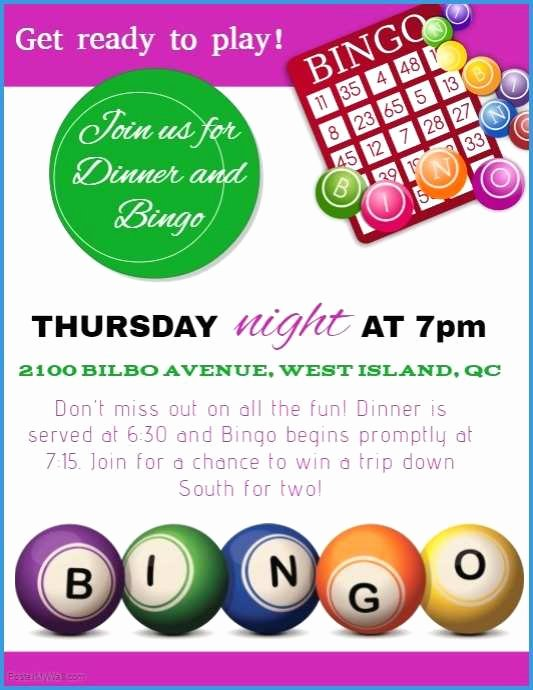 Bingo Flyer Template Free Unique Lovely Models Bingo Flyer Template Free Download