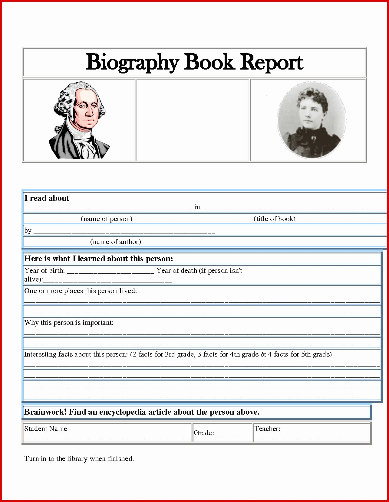 Biography Book Report Template Fresh E Page Book Report Template New Awesome Author Biography