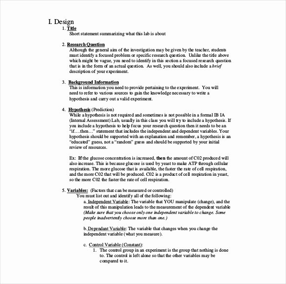 Biology Lab Report Template New 28 Lab Report Templates Pdf Google Docs Word Apple