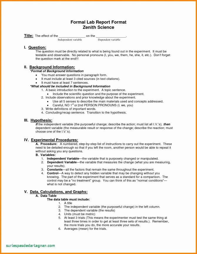 Biology Lab Report Template New form Lab Report Title Page format formal Template