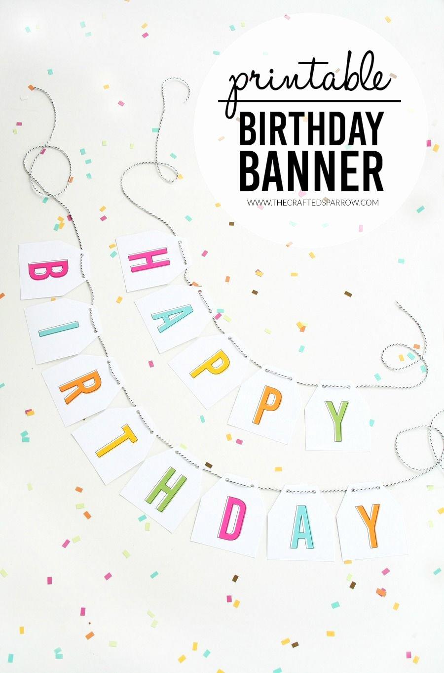 Birthday Banner Template Free Beautiful Free Printable Birthday Banner