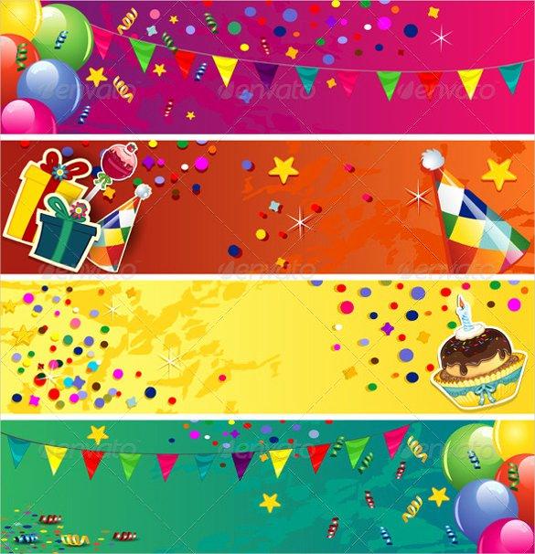 Birthday Banner Template Free Best Of Birthday Banner Template – 23 Free Psd Eps In Design
