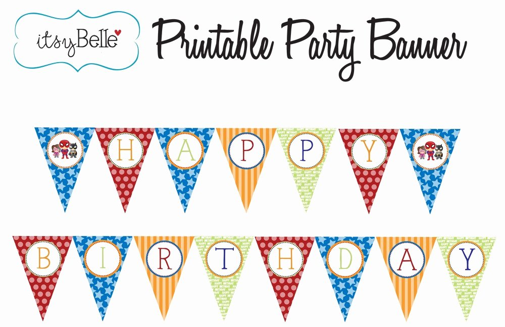Birthday Banner Template Free Best Of Free Printable Happy Birthday Banner Templates