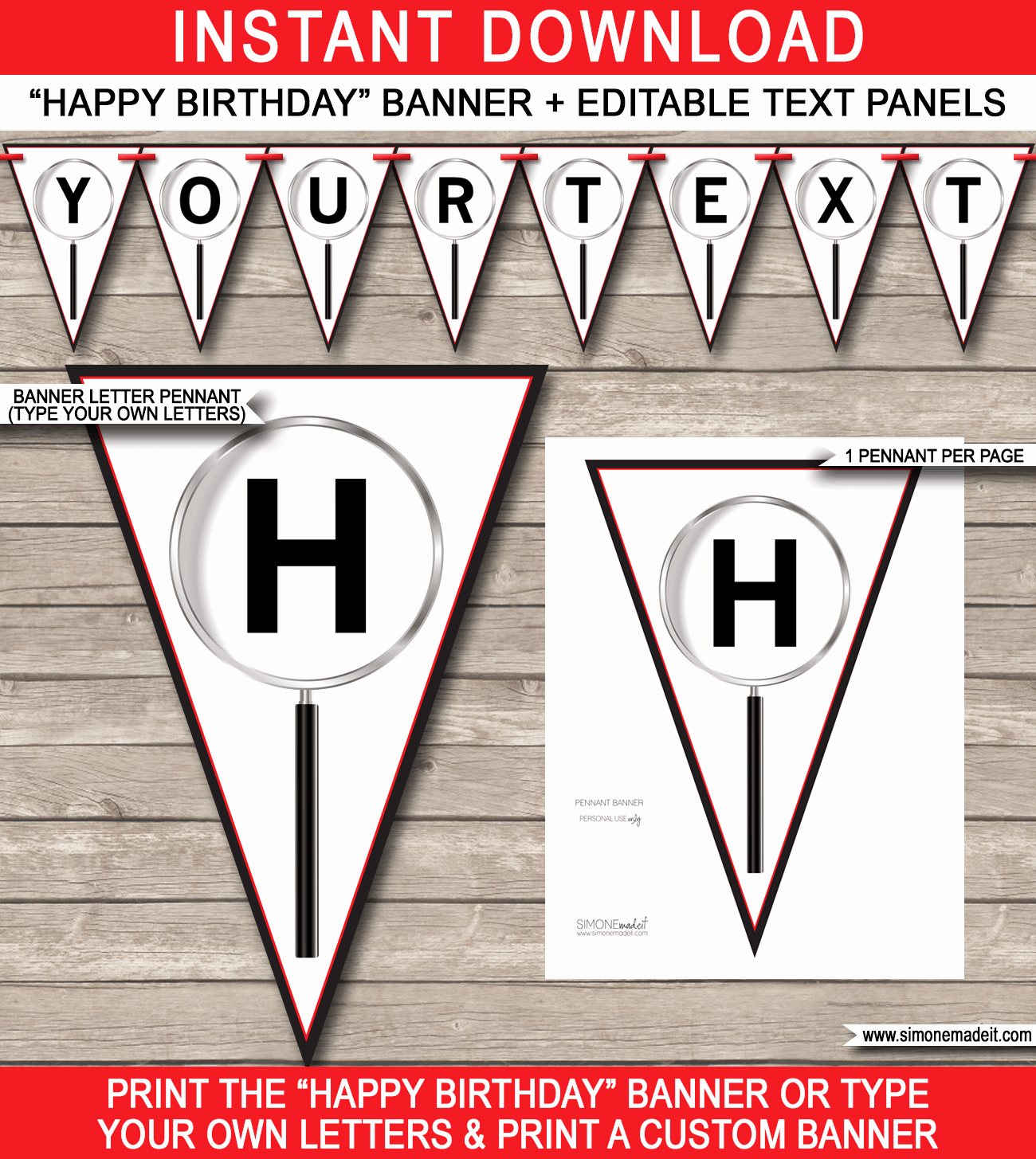 Birthday Banner Template Free Luxury Spy Party Banner Template