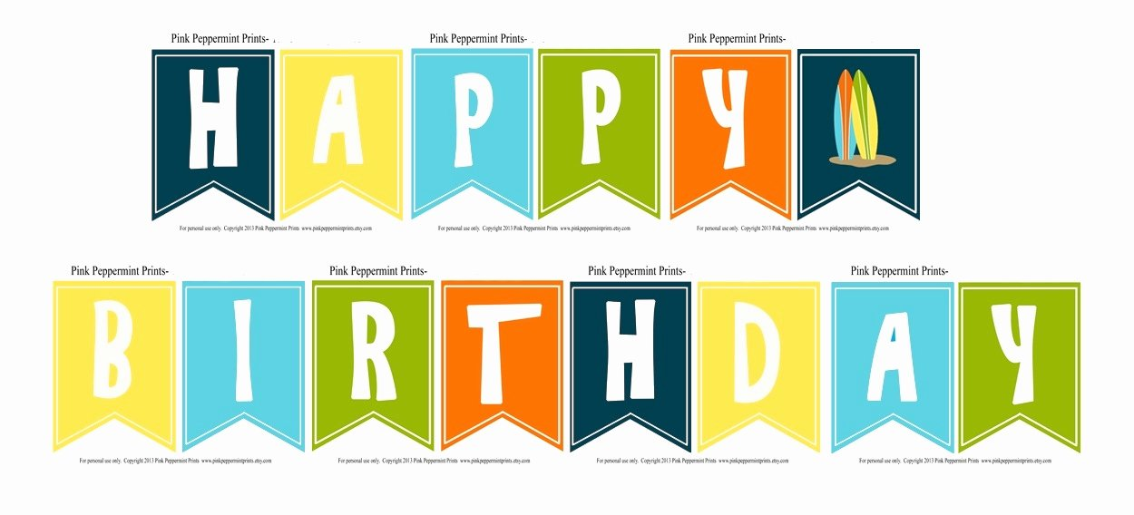 Birthday Banner Template Free New Happy Birthday Banner Template Printable Printable 360