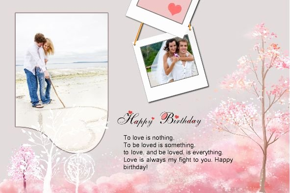 Birthday Card Template Photoshop Beautiful Photoshop Greeting Card Template Happy Birthday Card Love
