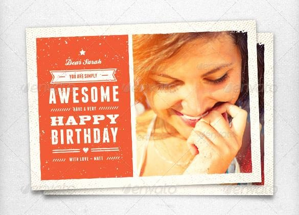 Birthday Card Template Photoshop Elegant Birthday Card Template 11 Psd Illustrator Eps format