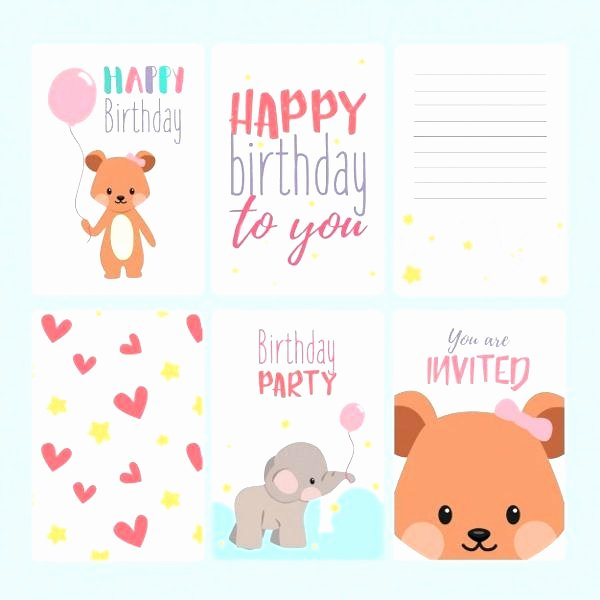 Birthday Card Template Photoshop Luxury 55 Inspirational Birthday Card Shop