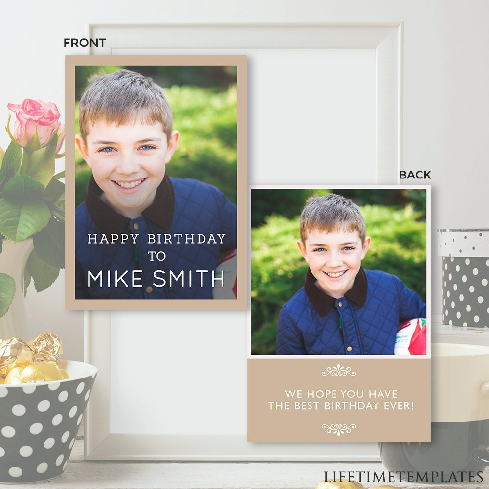 Birthday Card Template Photoshop Unique Birthday Card Template Shop Psd Instant Download