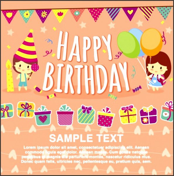 Birthday Card Template Publisher Awesome 7 Publisher Birthday Card Template Sampletemplatess