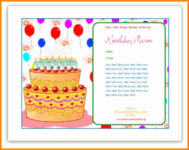 Birthday Card Template Publisher Awesome Free Birthday Card Templates for Publisher – Best Happy