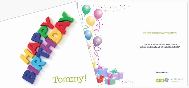 Birthday Card Template Publisher Awesome Greetings Card Childcare Birthday • istudio Publisher