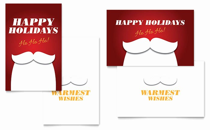 Birthday Card Template Publisher Awesome Ho Ho Ho Greeting Card Template Word & Publisher