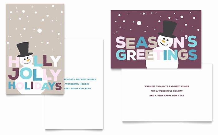 Birthday Card Template Publisher Beautiful Jolly Holidays Greeting Card Template Word & Publisher