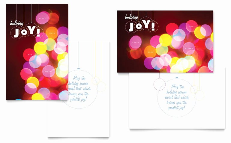 Birthday Card Template Publisher Inspirational Holiday Lights Greeting Card Template Word & Publisher