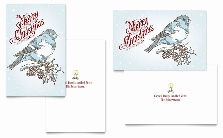 Birthday Card Template Publisher Lovely Vintage Bird Greeting Card Template Word & Publisher