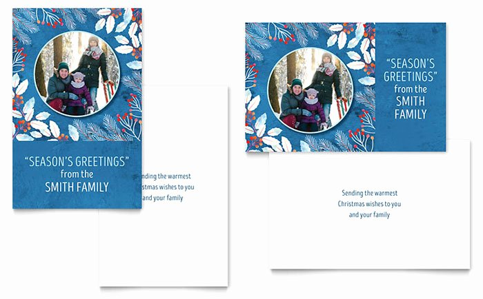 Birthday Card Template Publisher Luxury Family Portrait Greeting Card Template Word & Publisher