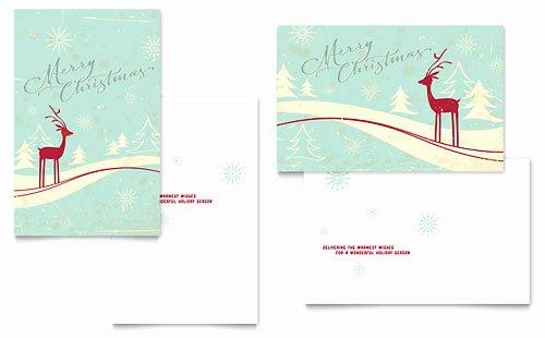 Birthday Card Template Publisher Unique Christmas Greeting Card Templates Word & Publisher