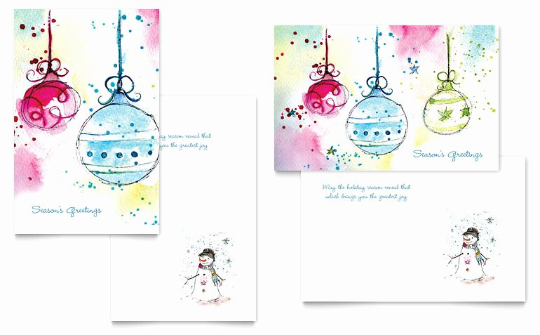 Birthday Card Template Word Best Of Whimsical ornaments Greeting Card Template Word & Publisher