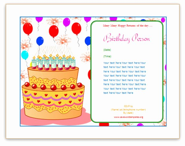 Birthday Card Template Word Fresh Birthday Card Template