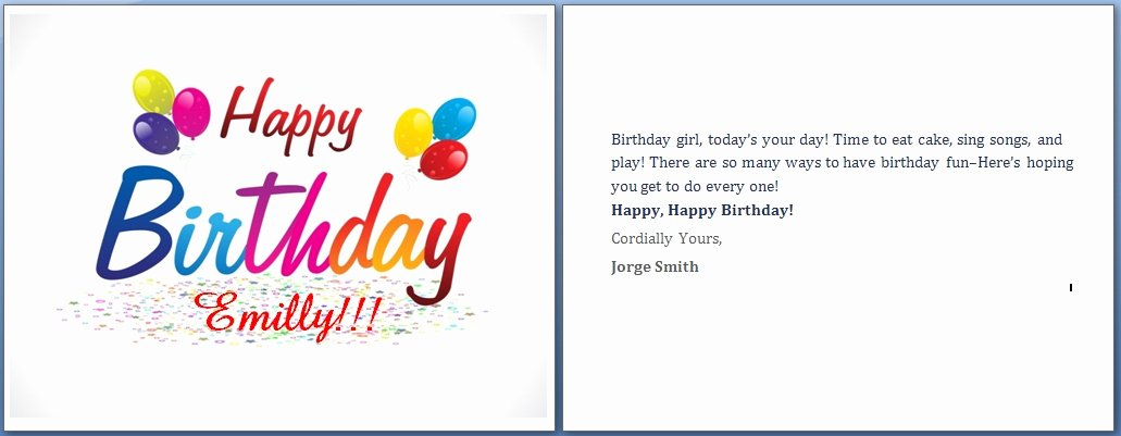 Birthday Card Template Word New Free Birthday Cards Templates for Word Invitation Template