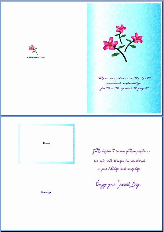 Birthday Card Template Word Unique 6 Best Of Birthday Card Templates for Word