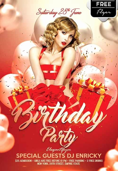 Birthday Flyer Template Free Awesome 11 Beautiful & Free Birthday Flyers Templates