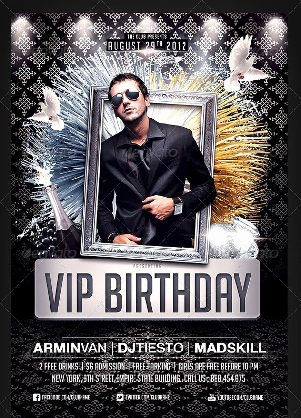 Birthday Flyer Template Free Beautiful 25 Birthday Party Flyer Design Psd Download
