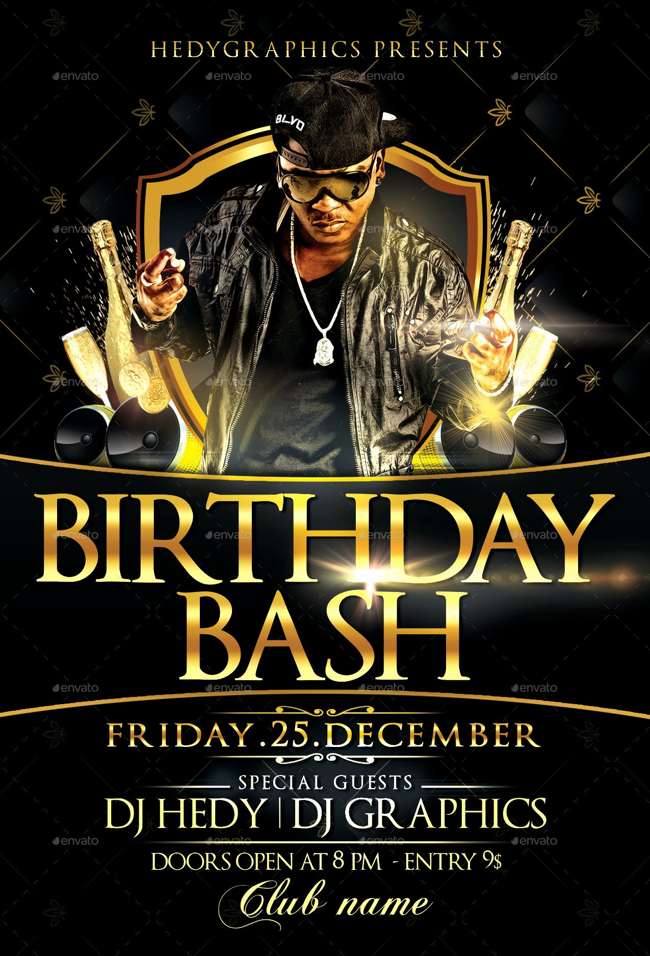Birthday Flyer Template Free Best Of Birthday Bash Flyer Template by Hedygraphics